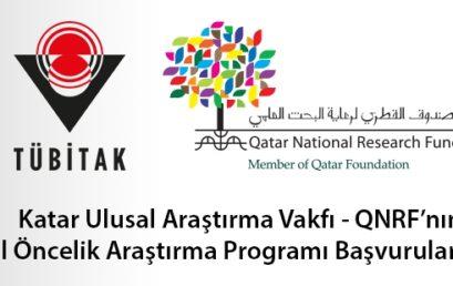Katar Ulusal Araştırma Vakfı Ulusal Öncelik Araştırma Programı Başvuruya Açıldı