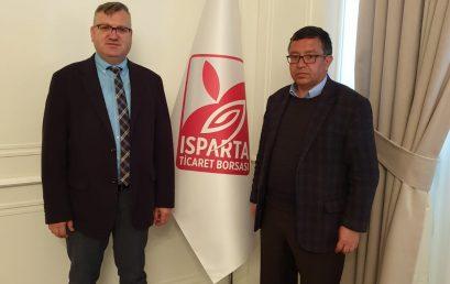 Prof. Dr. Serdal Terzi Ve Ekibimiz Isparta Ticaret Borsası Yönetim Kurulu Başkanı Ahmet Adar'a Ziyarette Bulundu