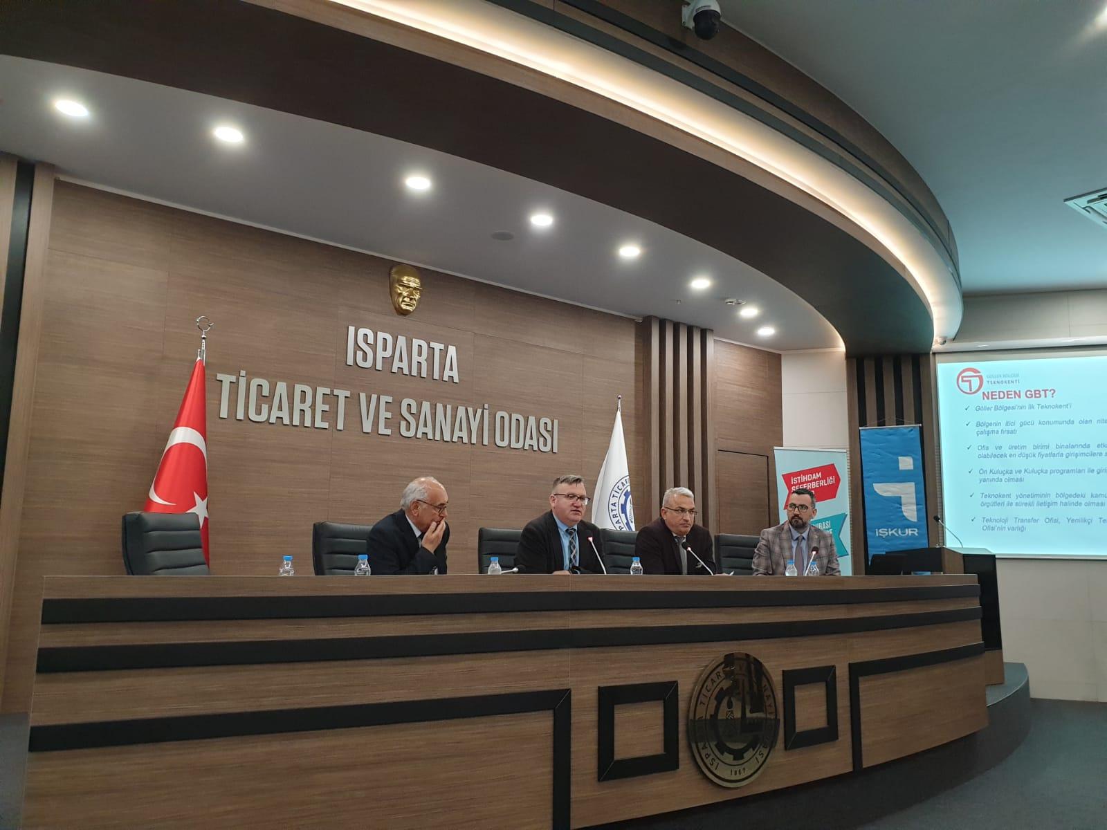 Isparta Ticaret Odası Yönetim Kurulu Ve Üyelerine Bilgilendirme Sunumu Gerçekleştirildi